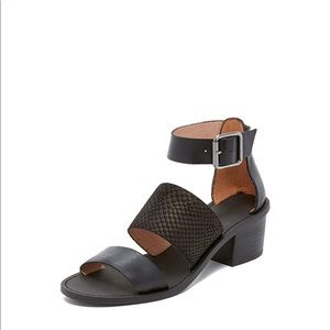 Madewell Warren Sandal In Embossed Leather 8.5